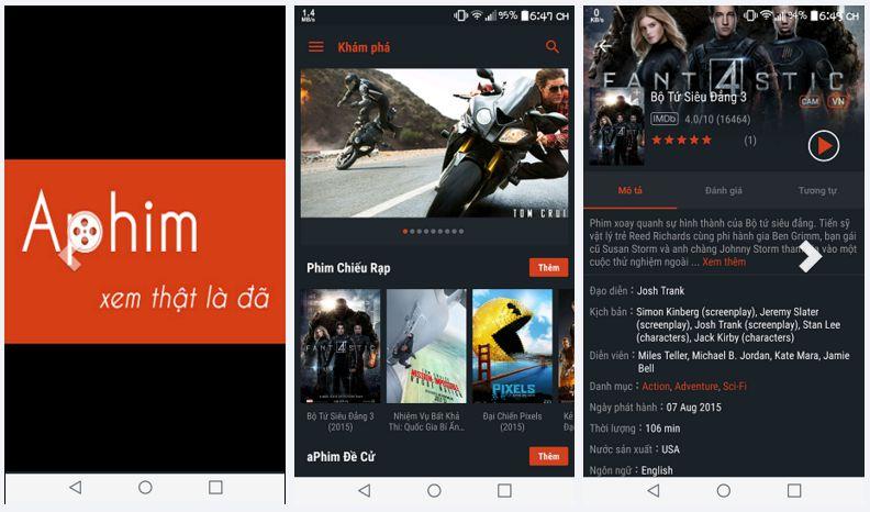 aPhim - Ứng dụng xem phim viễn tưởng trên Android và iOS hay nhất