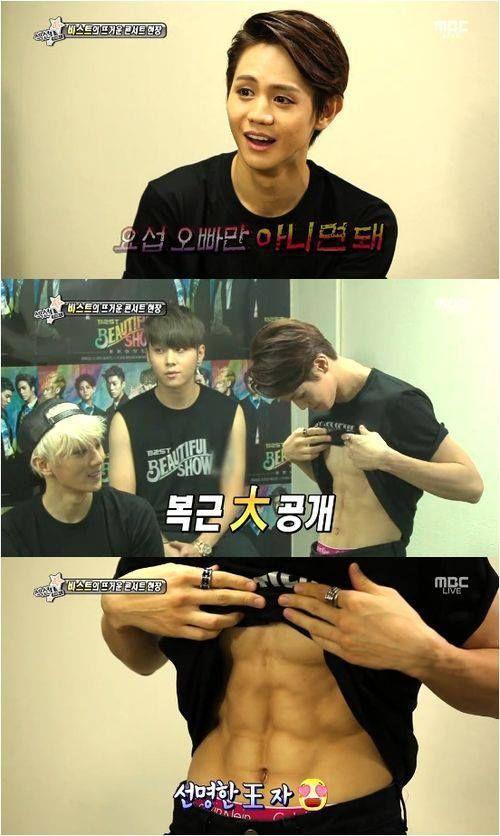 Bỏng mắt với thân hình 8 múi của sao nam Hàn khi đi show thực tế (9)